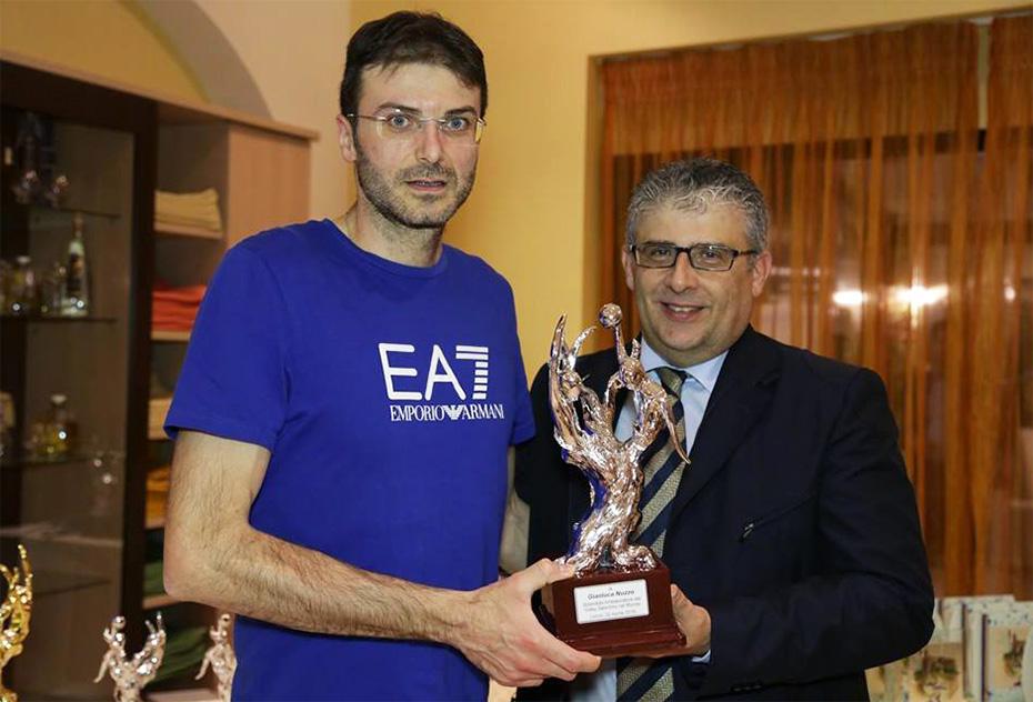 La Showy Boys Galatina e il tecnico Nuzzo premiati alla Festa della pallavolo salentina