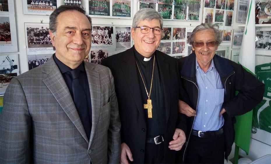 S.E. Mons. Pisanello incontra i dirigenti bianco-verdi
